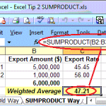 SUMPRODUCT Way of Calculating Weighted Avg